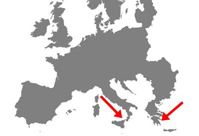 Karte Anbaugebiete unserer Aloe Pflanzen