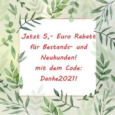 Neujahrsaktion - 5 Euro Rabatt für einen guten Start ins neue Jahr 2021