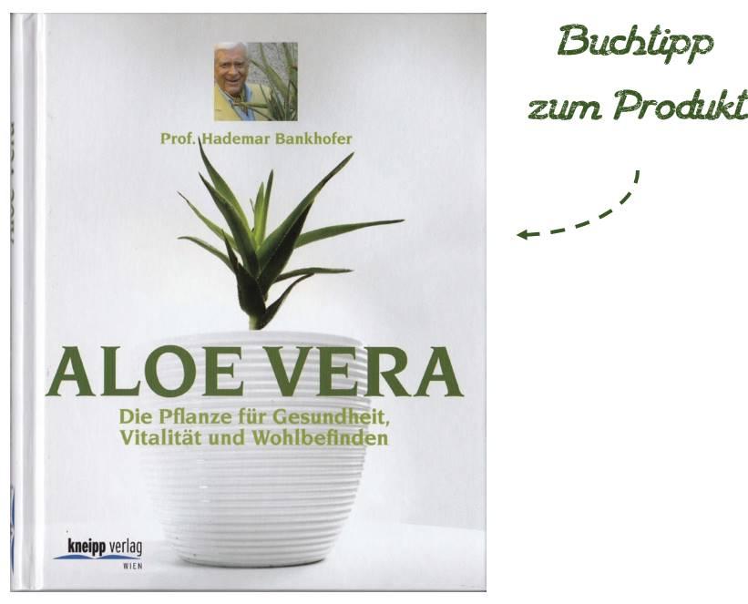 Buchtipp zum Aloe Vera Saft in der Glasflasche