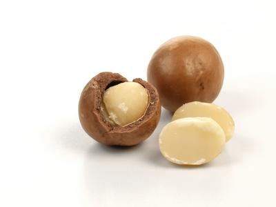 Macadamia Nüsse - mit dem Öl der Macadamia Nuß wird die Aloe Vera Macadamia Hautcreme verfeinert um ein optimales pflegendes Ergebnis zu erhalten