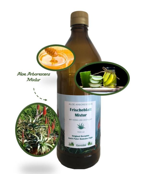 Aloe fresh leaves mixture from Father Romano Zago