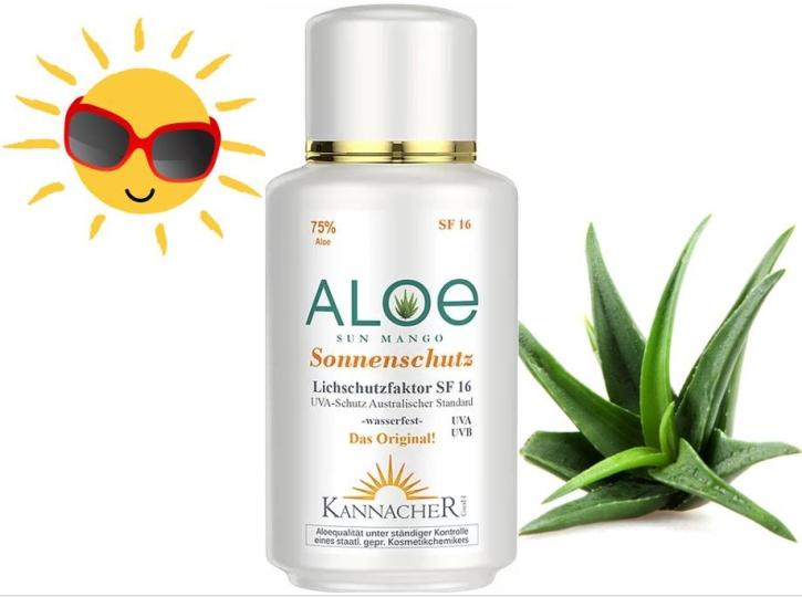 Aloe Vera - Sonnenschutz mit Mangoduft (200 ml) - SF16