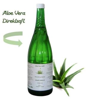 """Aloe Vera Saft """"natur"""" in der Glasflasche (1000 ml)"""