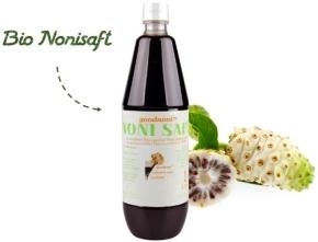 Bio Noni Saft (1000 ml) mit Messbecher